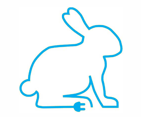 A rabbit representing the preferred method of charging at home or work, best suited for overnight or top up charging. Depending on the model it can charge an electric vehicle from flat to 100% in around 2-6 hours.