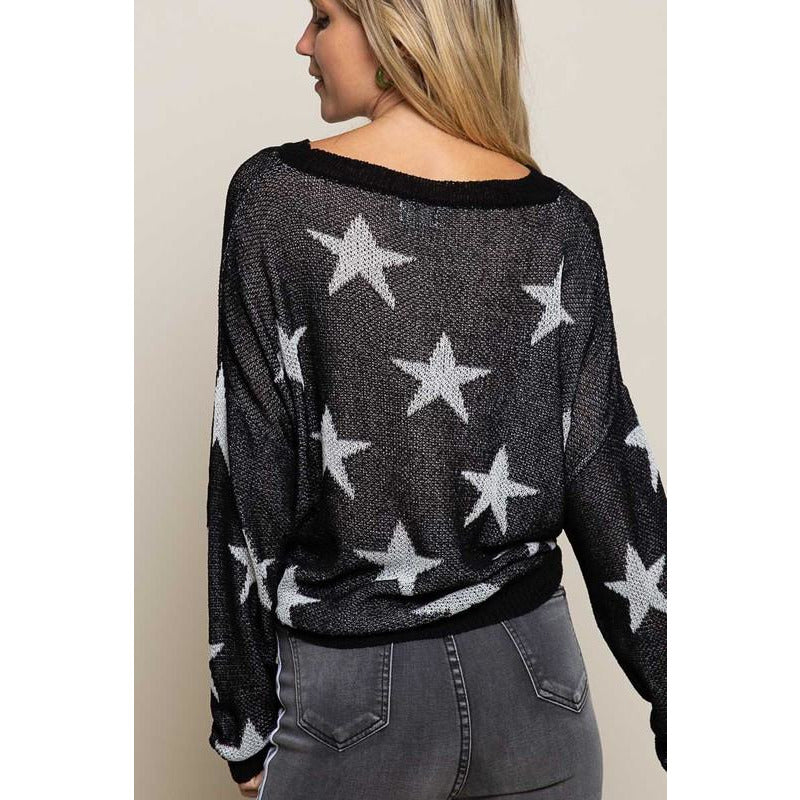 Star Spangled Stars Lightweight Sweater