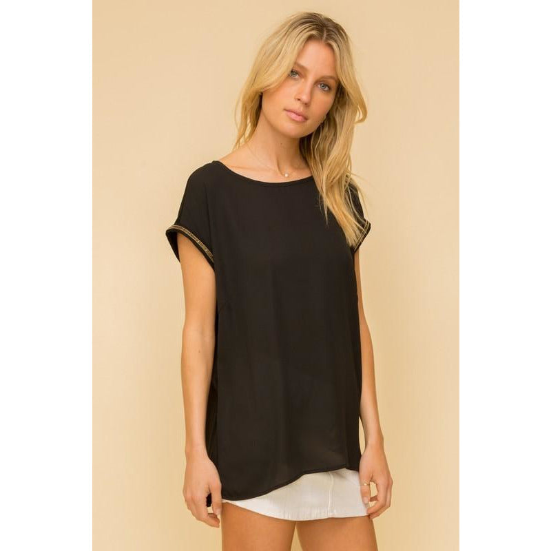 Katie Trim Detailed Tee