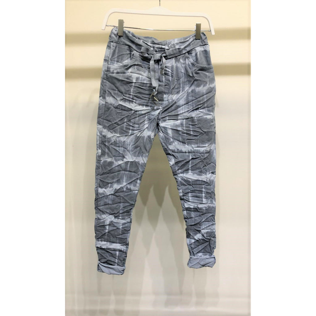 Khloe Paint Brush Stripe Crinkle Jogger