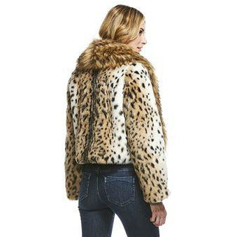 LEOPARD CITY CHIC FAUX FUR JACKET