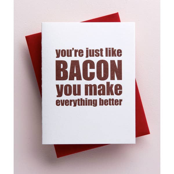 Bacon Friendship Card