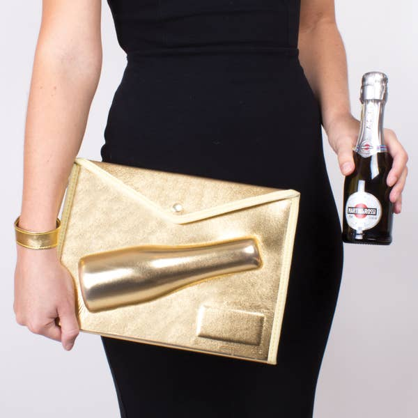 Small 3D Champagne Clutch