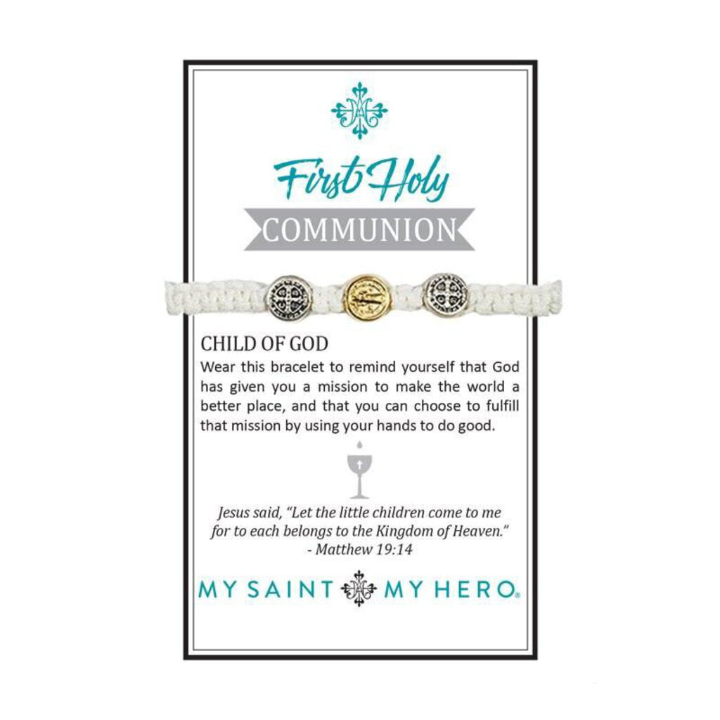 My Saint My Hero First Holy Communion Bracelet for Kids