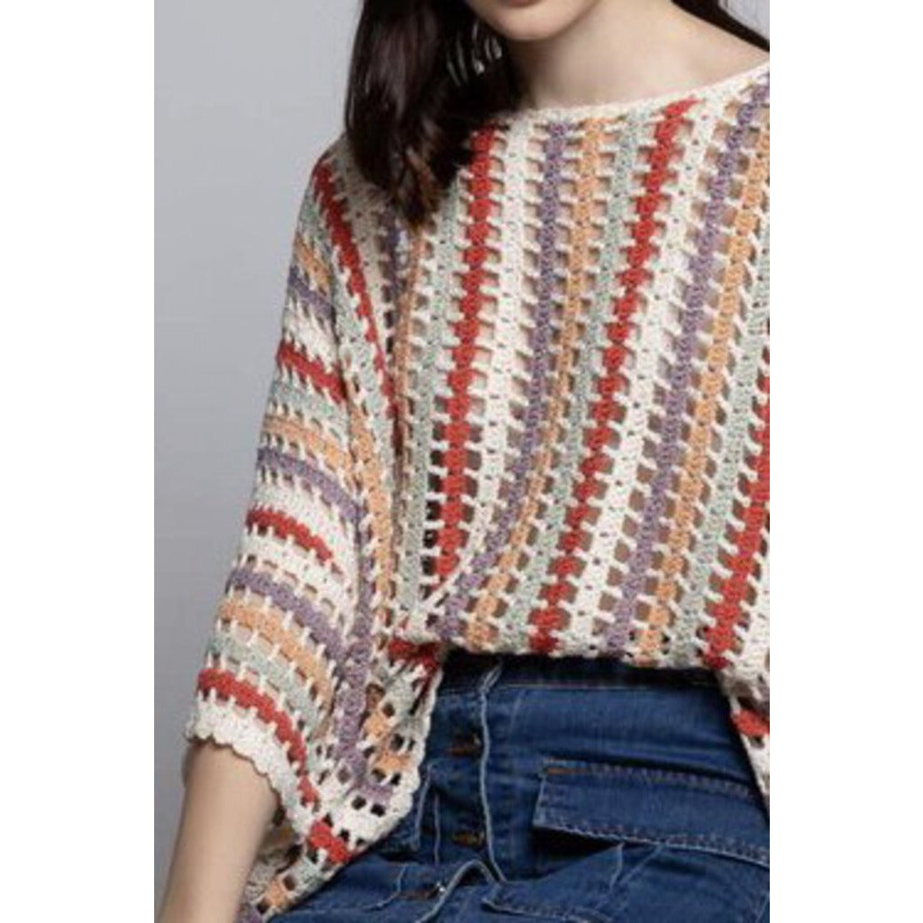 Chenille Open Knit Sweater