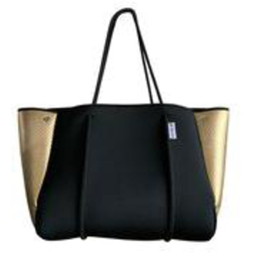 Black Neoprene Bag w/Gold Sides