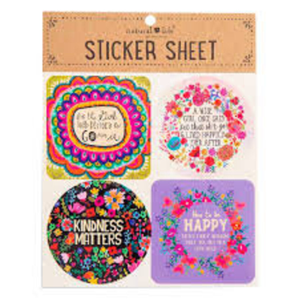 Natural Life Sticker  Sheet  Kindness Matters
