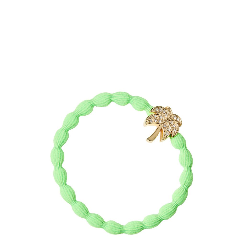 Cie Luxe Hair Tie Bracelet Green Gold Palm Tree