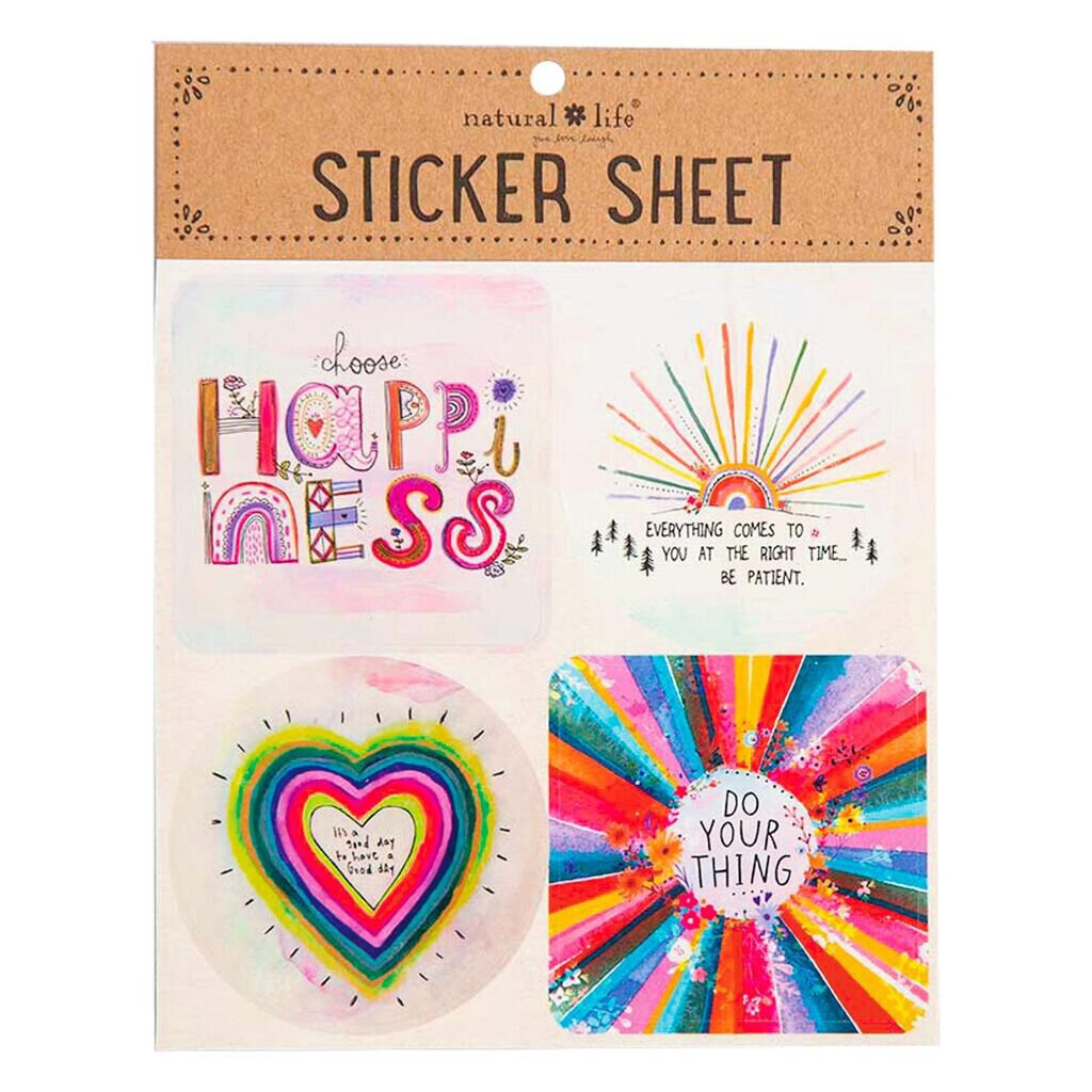 Natural Life Sticker  Sheet Choose Happiness