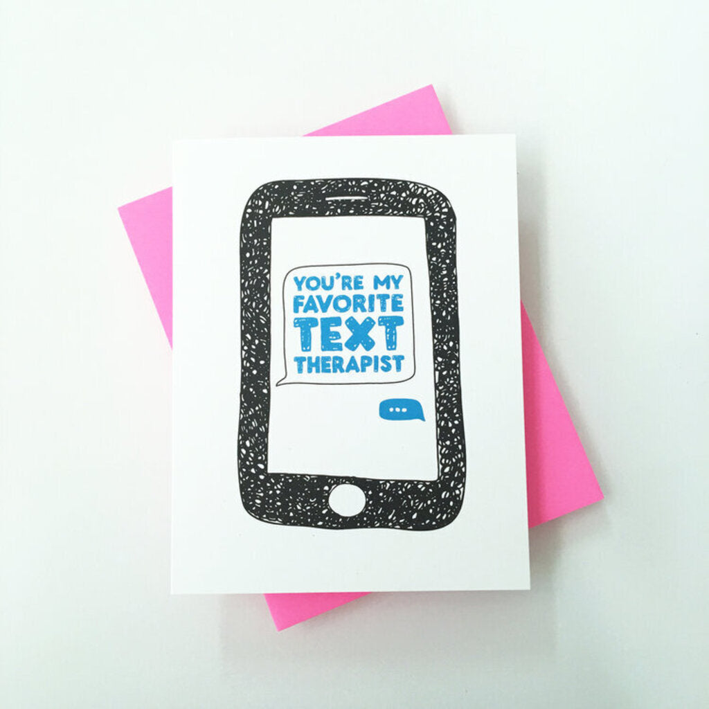 Text Therapist Greeting Card