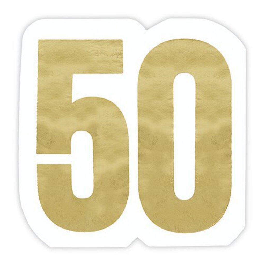 50 Birthday Napkin
