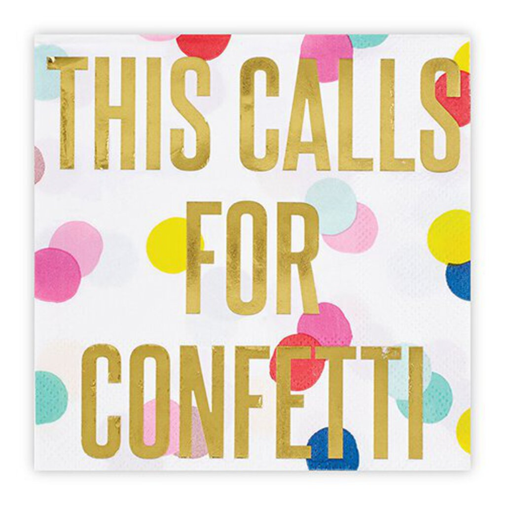 Calls For Confetti Napkins