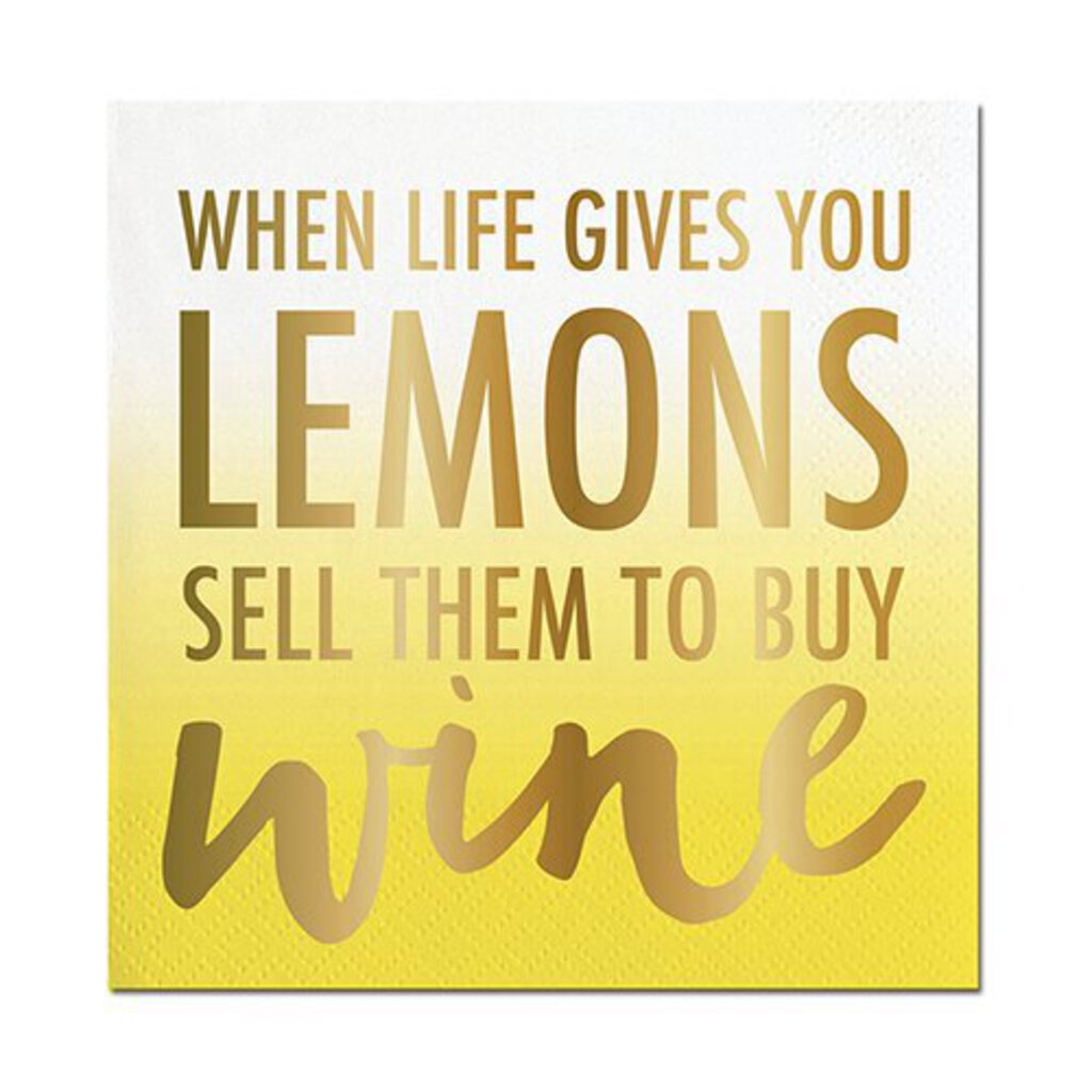 When Life Gives You Lemons, Sell Them To Buy Wine Napkins