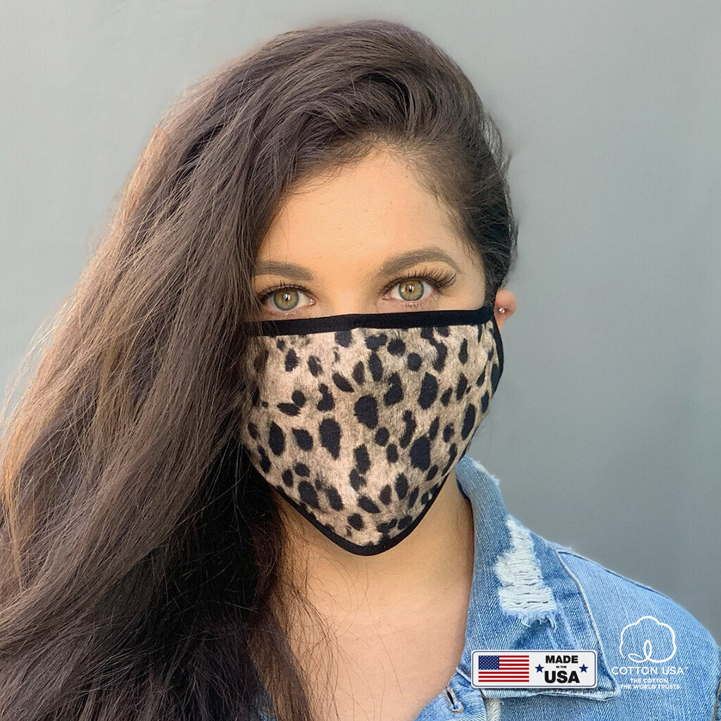 Face Mask-Leopard w/Black Trim-ADULT