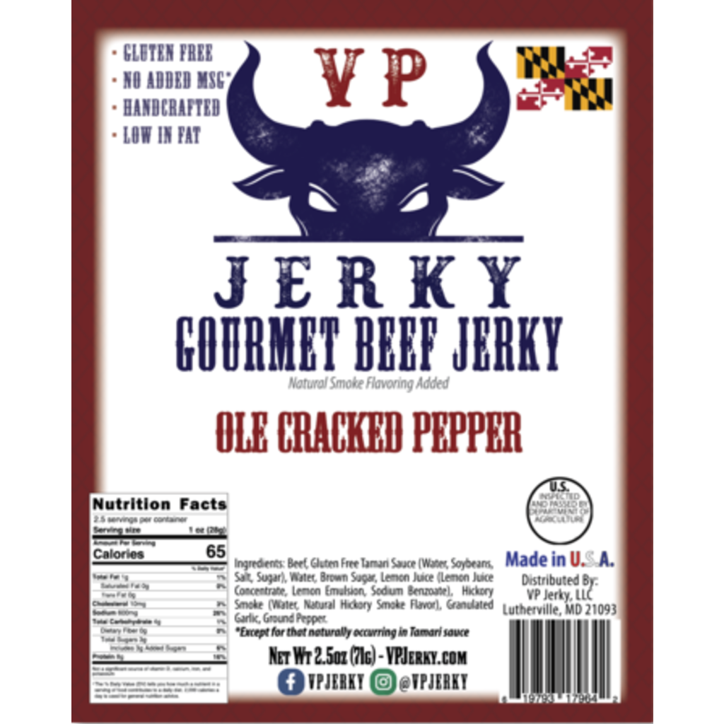 VP Jerky Ole Cracked Pepper Beef Jerky