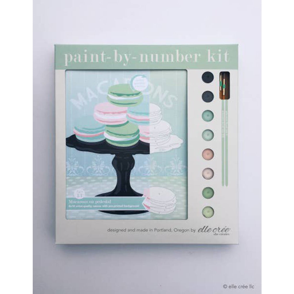 Macarons on Pedestal Paint By Number Kit