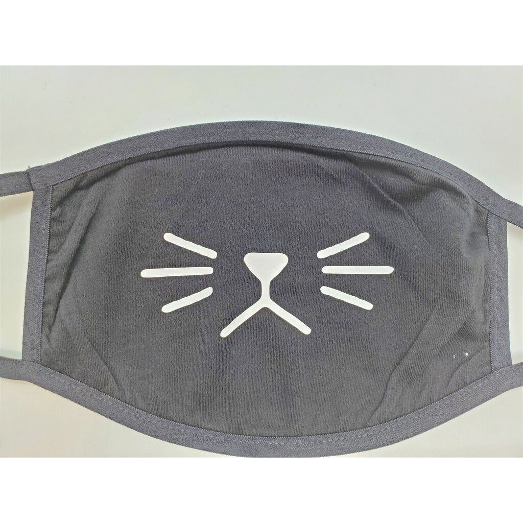 Face Mask with Whiskers-Adult