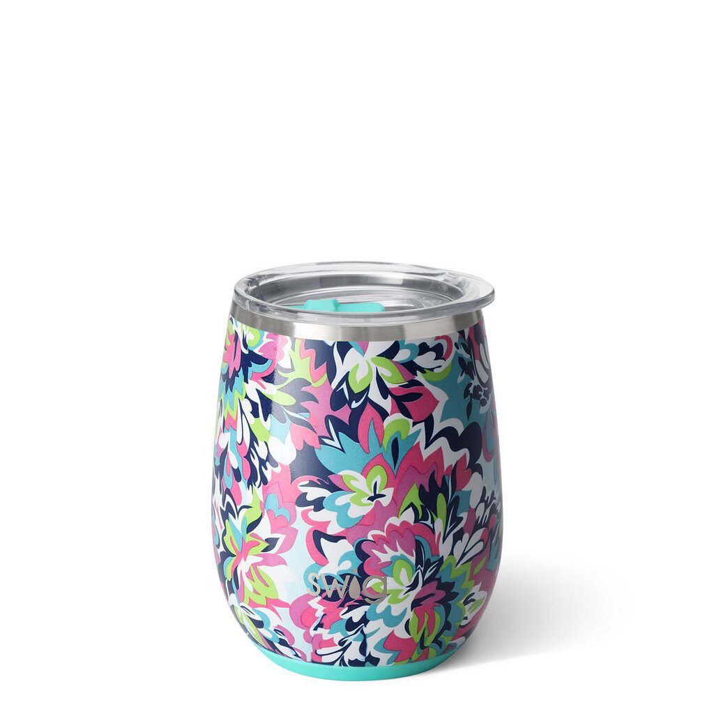 Swig-14oz Stemless Wine Cup-Frilly Lilly