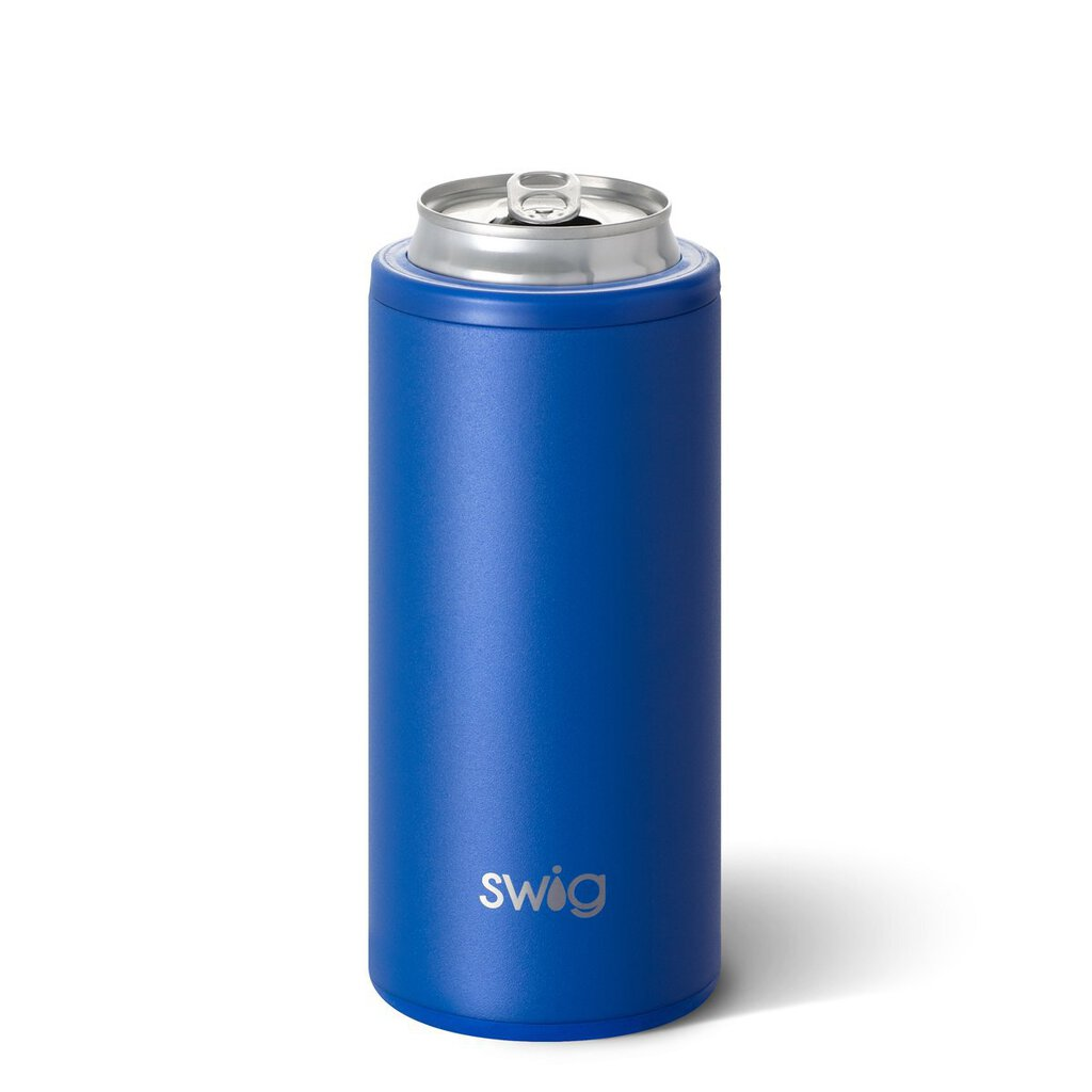 Swig-Slim Can Cooler-Matte Royal