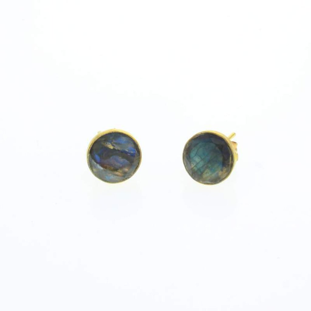 Lotus Gold Voyager Earrings Labradorite