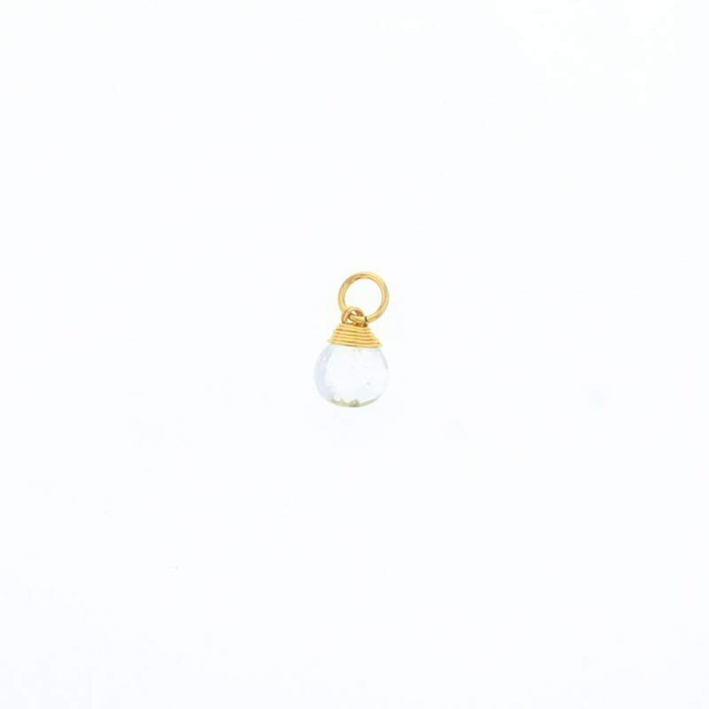 Lotus Gold Briolette Stone-Clear Quartz