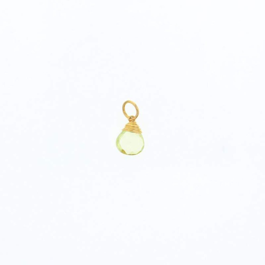 Lotus Gold Briolette Stone-Lemon Quartz