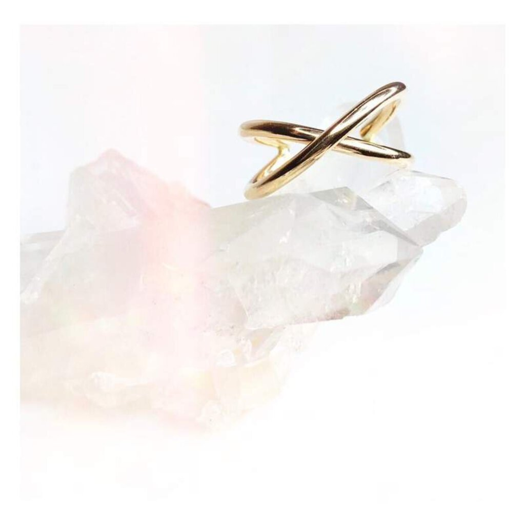 Lotus Gold Vexed Ring