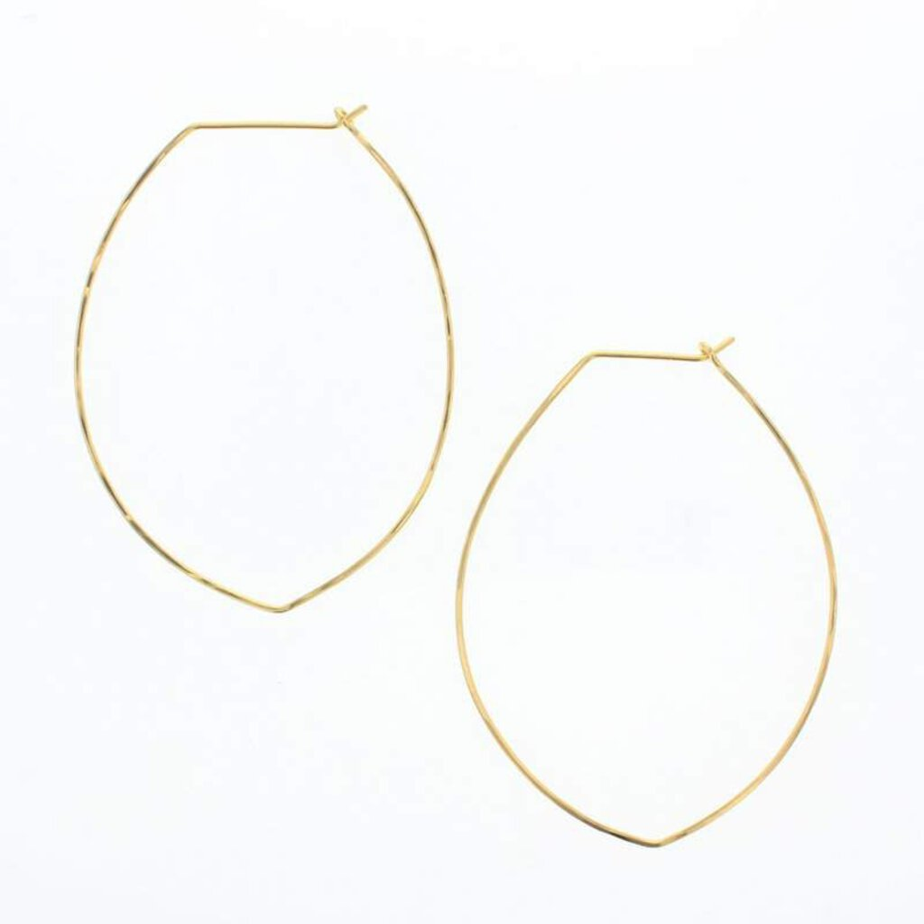 Lotus Gold Filled Petal Hoop Earrings