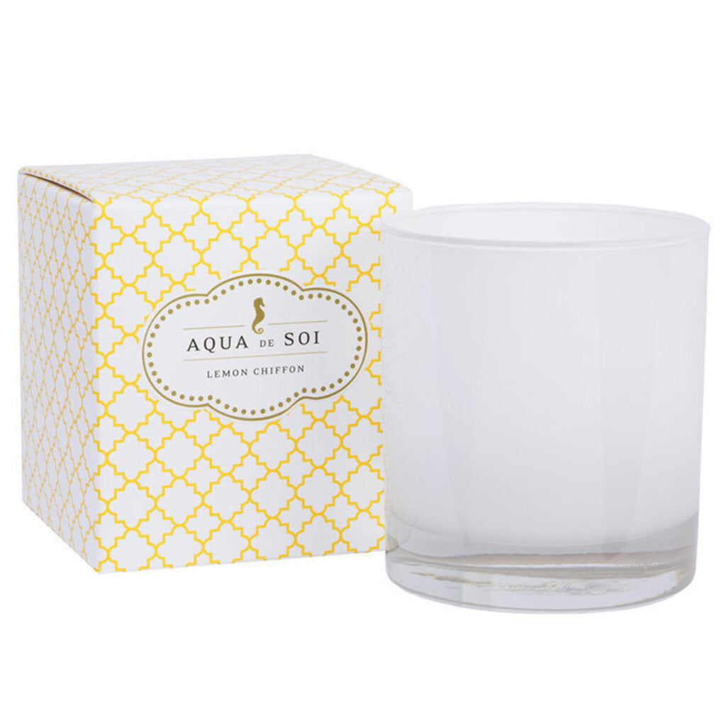 Aqua de Soi Lemon Chiffon 11 oz Boxed Candle