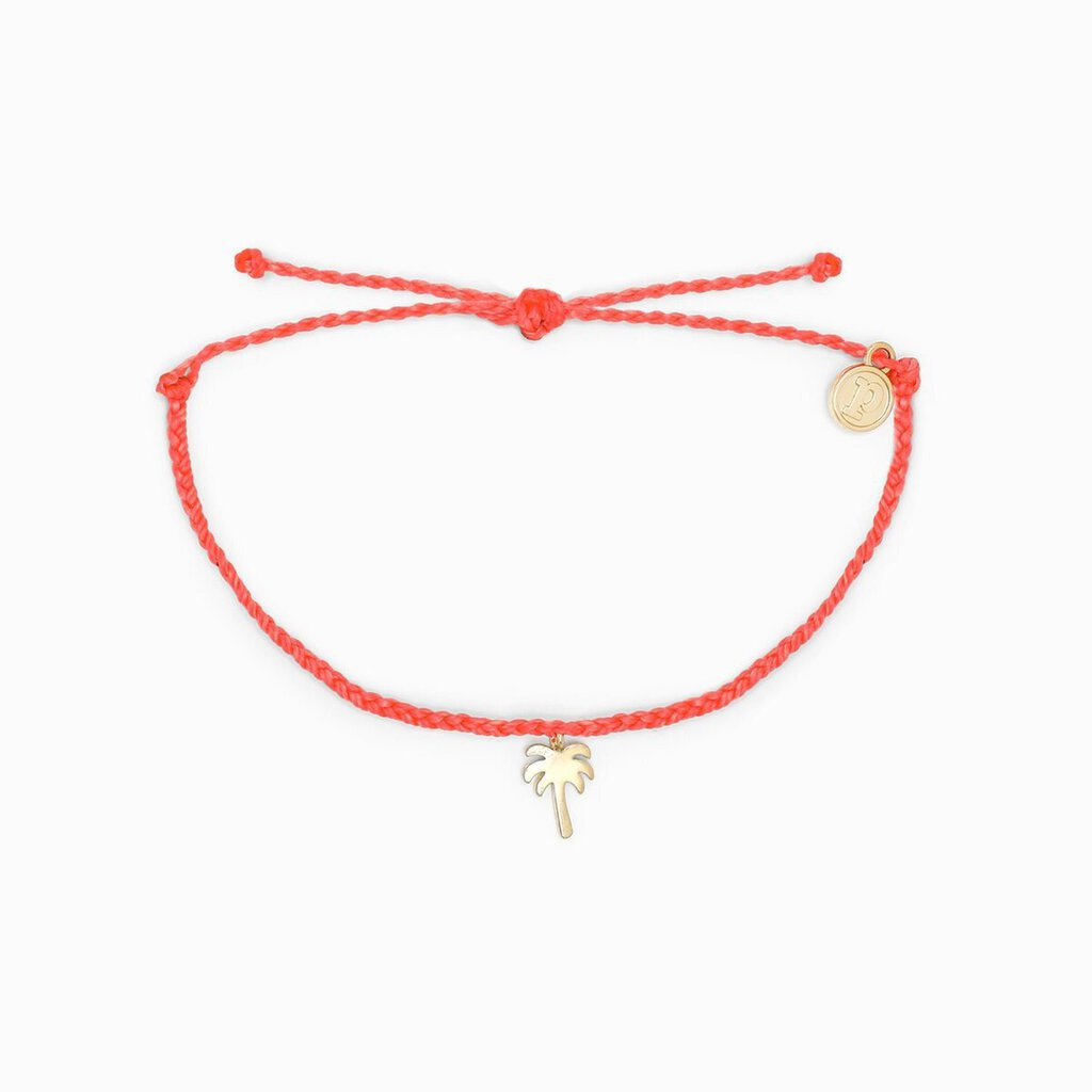 Pura Vida Palm Tree Bracelet-Gold & Strawberry