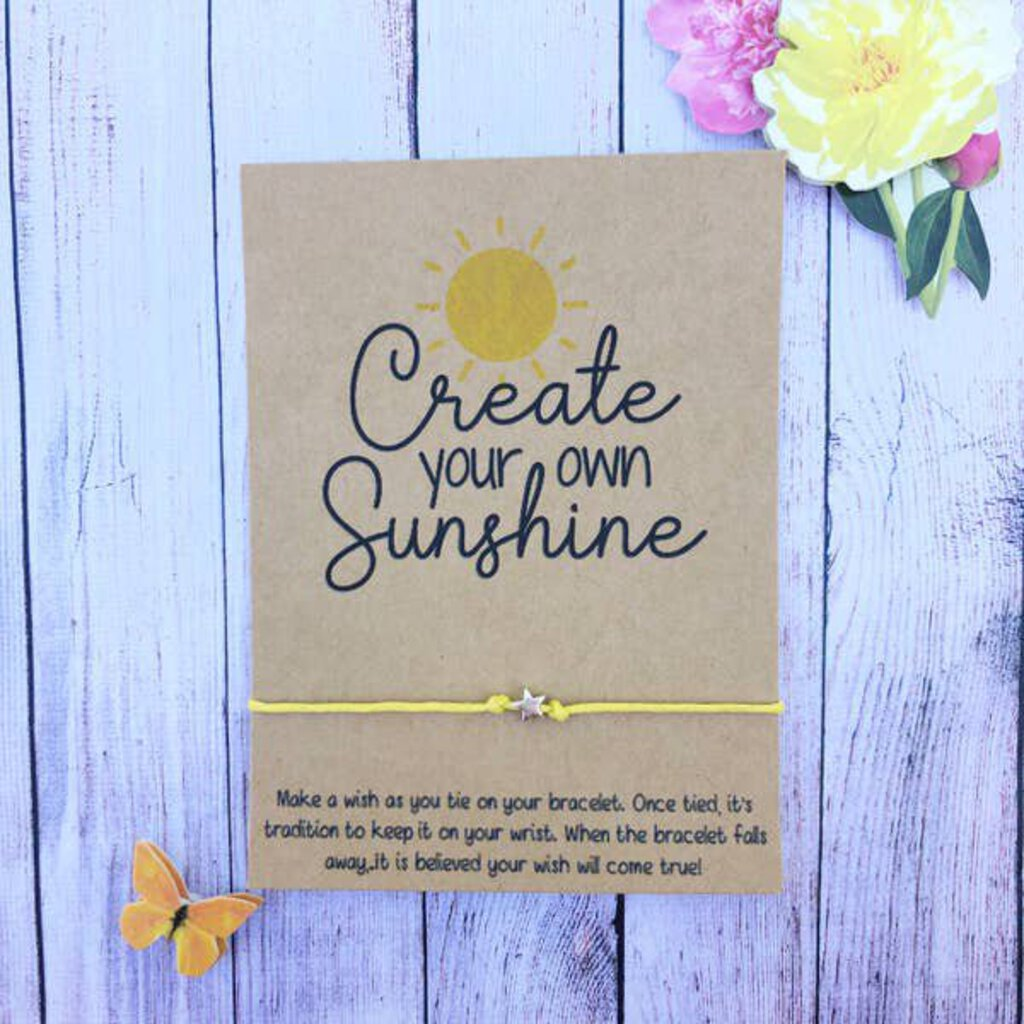 Wishlet Bracelet-Create Your Own Sunshine