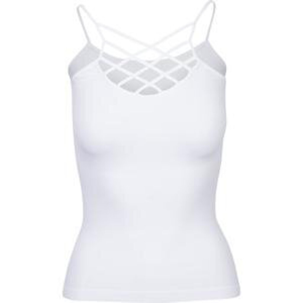 Spider Cage Criss Cross Cami-White-OS