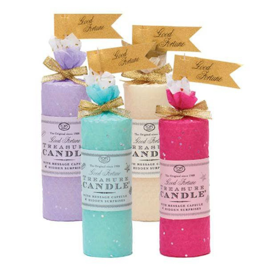"Treasure Candle 4"" All Occasion-Color Varies"