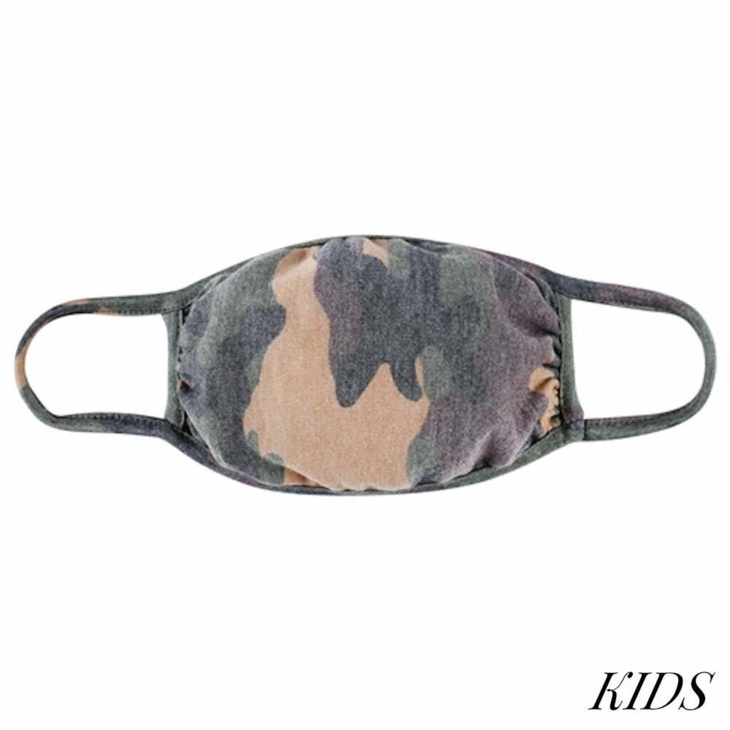 Face Mask-Brown Camo-Kids