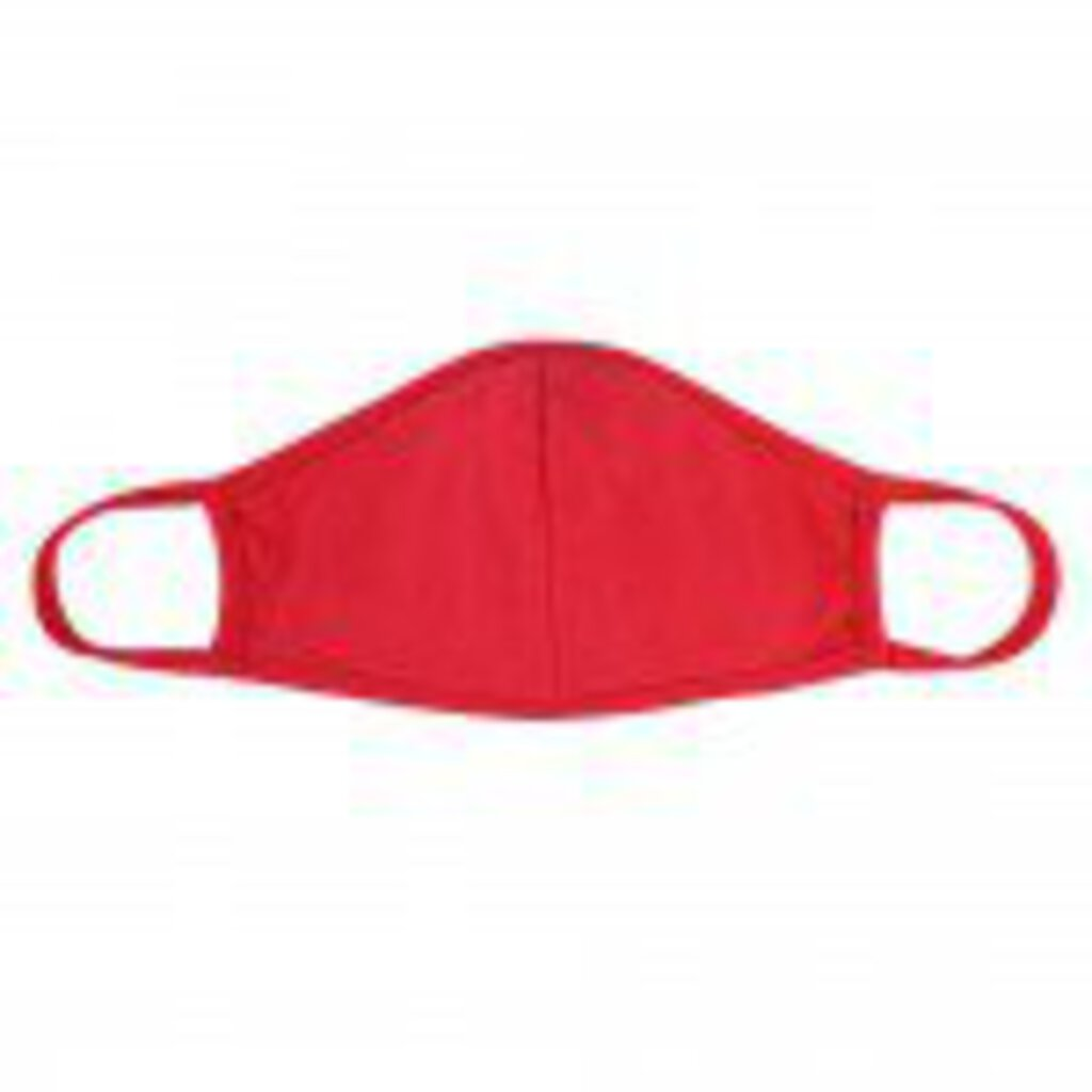 Face Mask-Red with Seam-Adults
