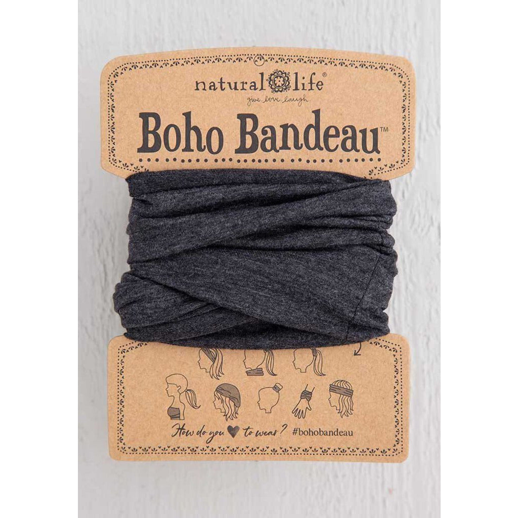 Natural Life Boho Bandeau-Heathered Charcoal