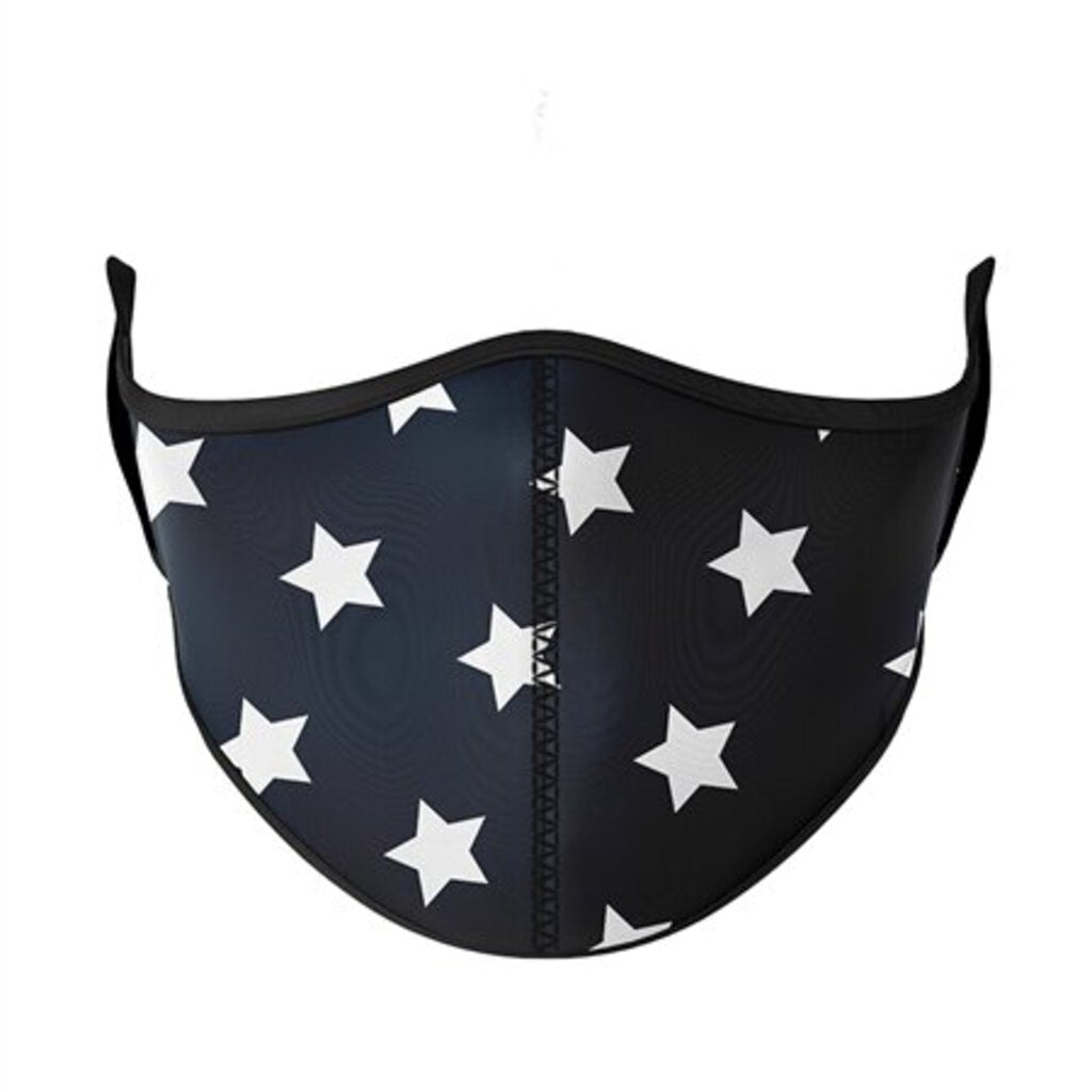 Face Mask-Flowers, Stars, & Treats-Adjustable-Adult