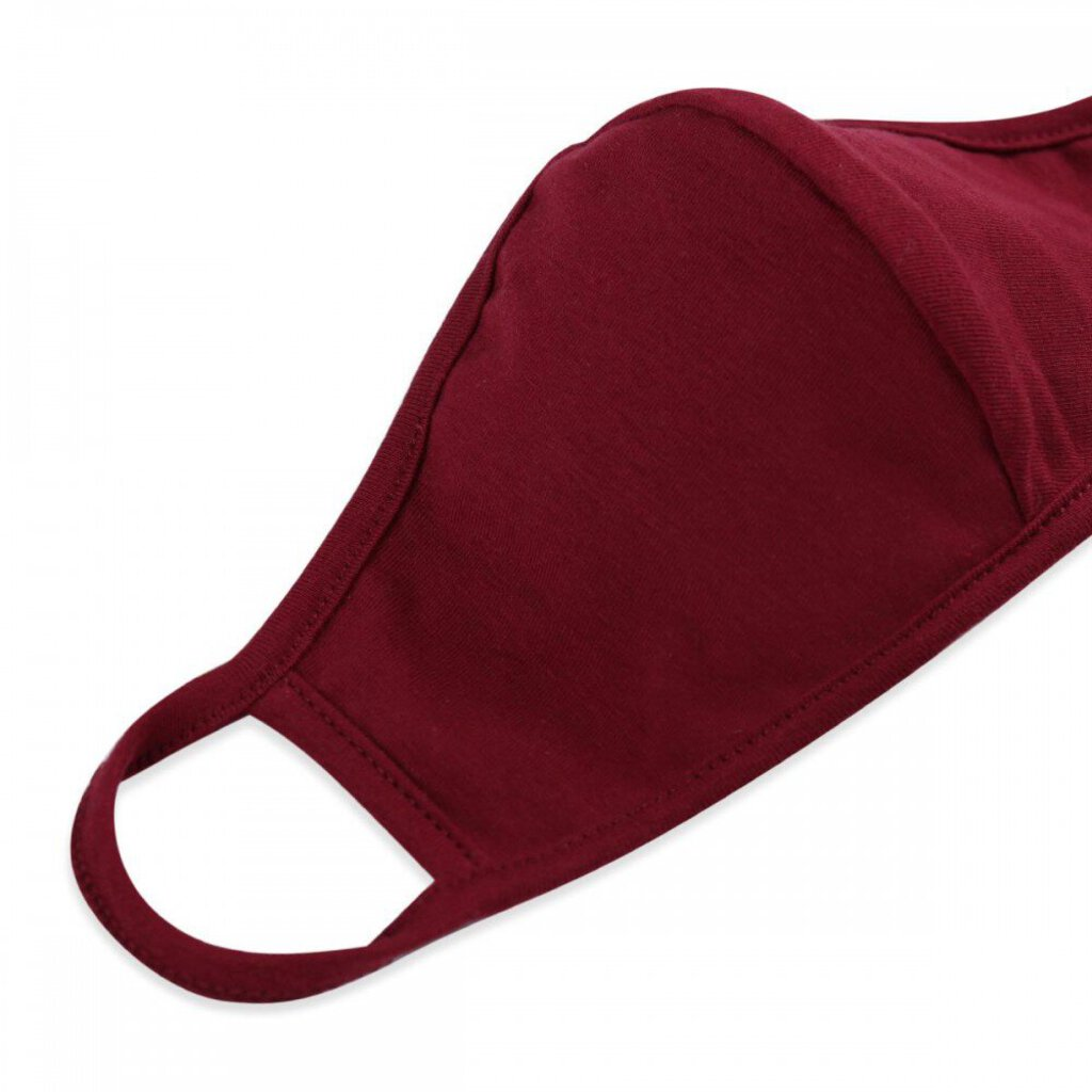 Face Mask-Maroon with Seam-ADULT