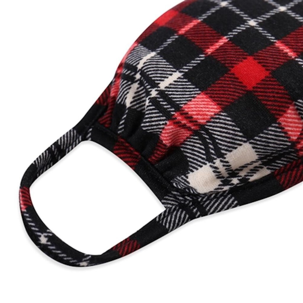 Face Mask-Black & Red Plaid-ADULT