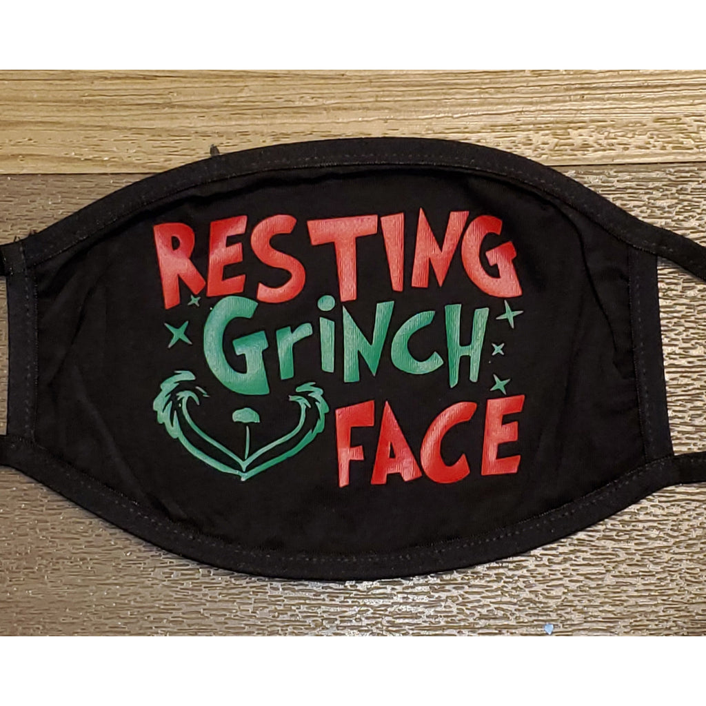 Face Mask-Resting Grinch Face-Adult