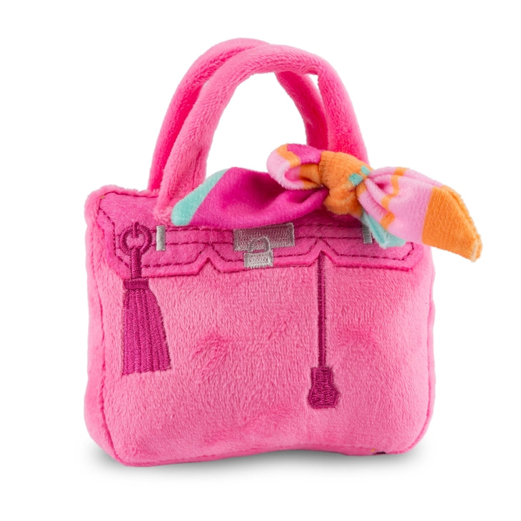 Pink Barking Bag with Scarf Toy