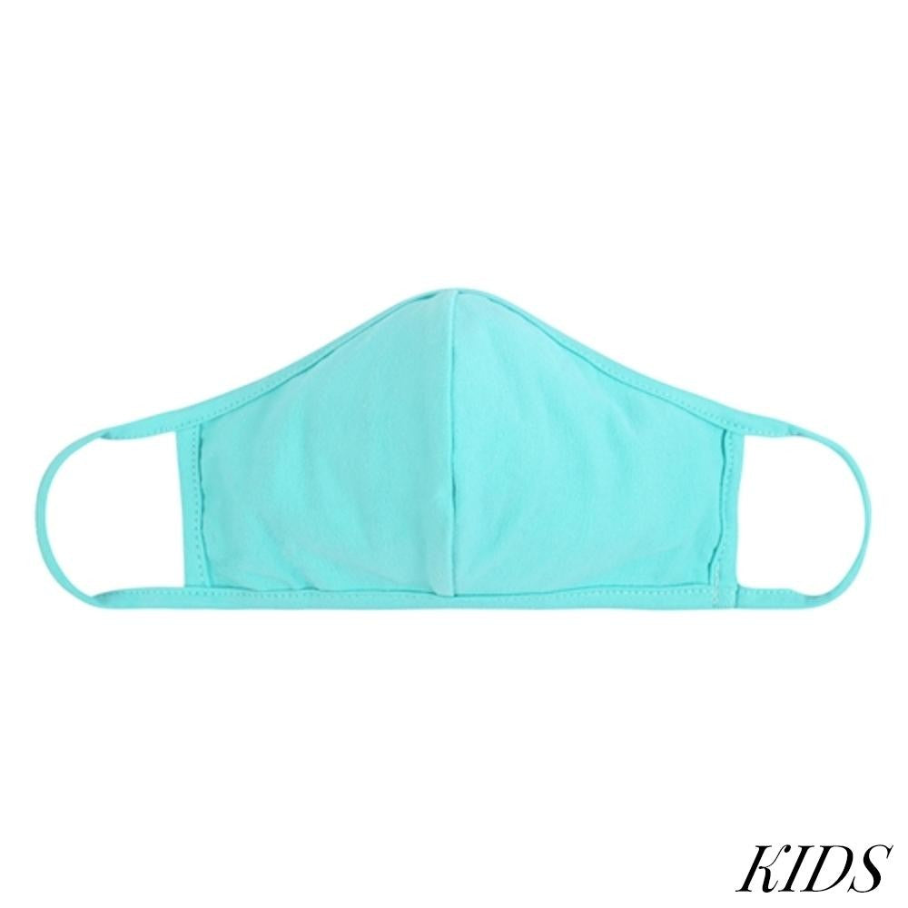 Face Mask-Dark Mint with Seam-Kids