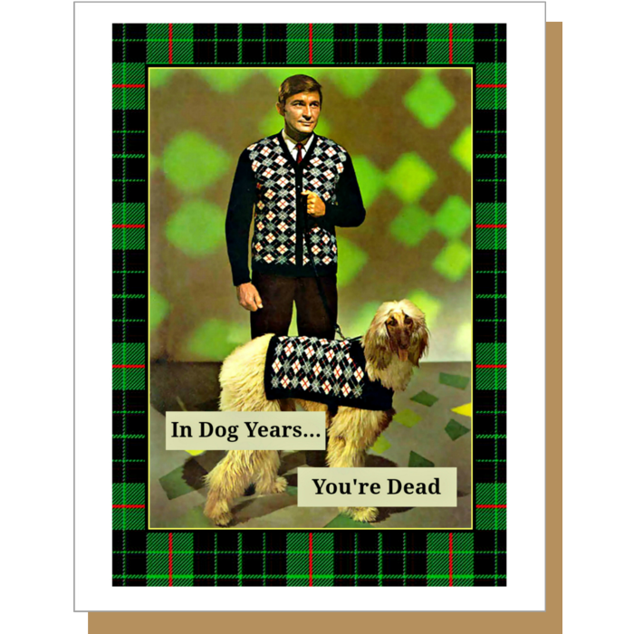 Dog Years (Male) Greeting Card