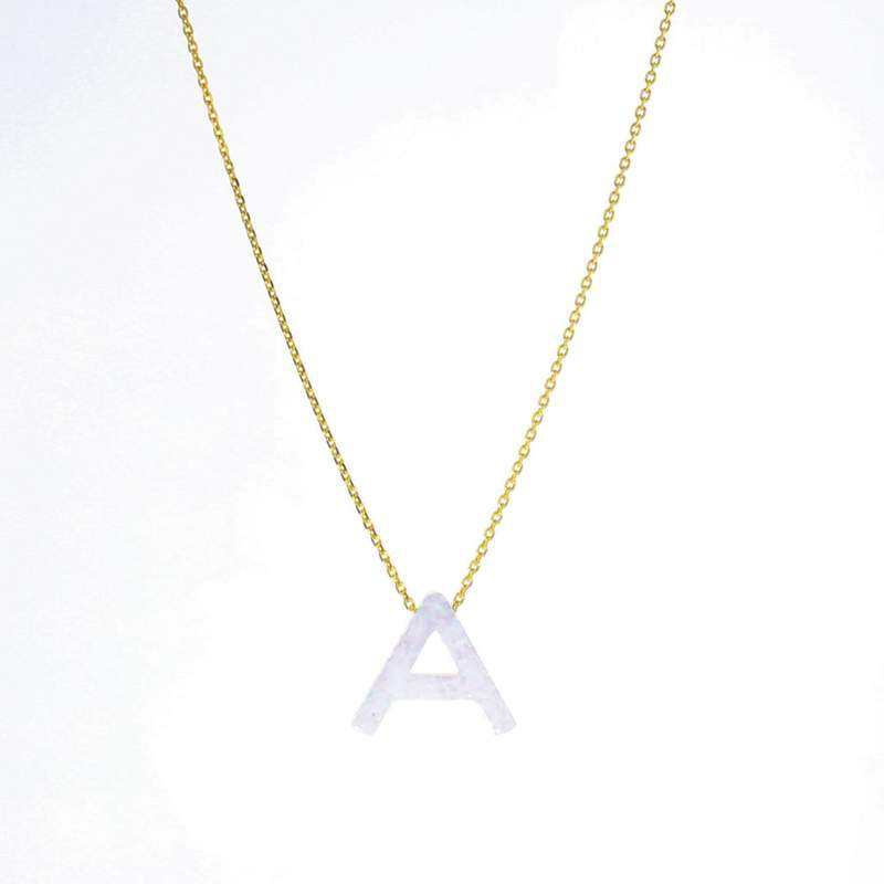Lotus Gold Aurora Letter Necklace