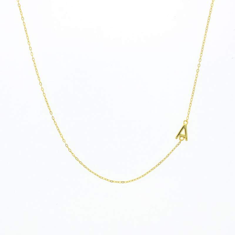 Lotus Gold Balance Letter Necklace