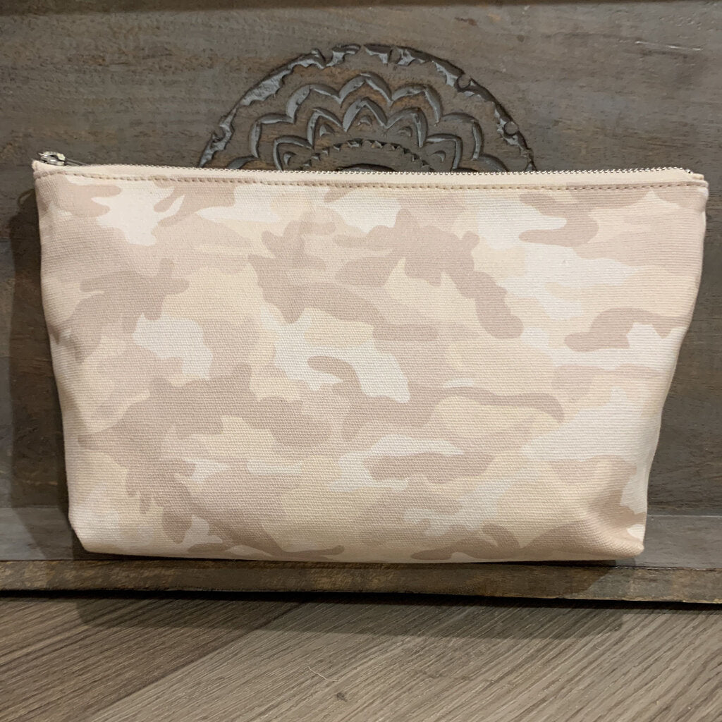 Large Camo  Makeup Bag