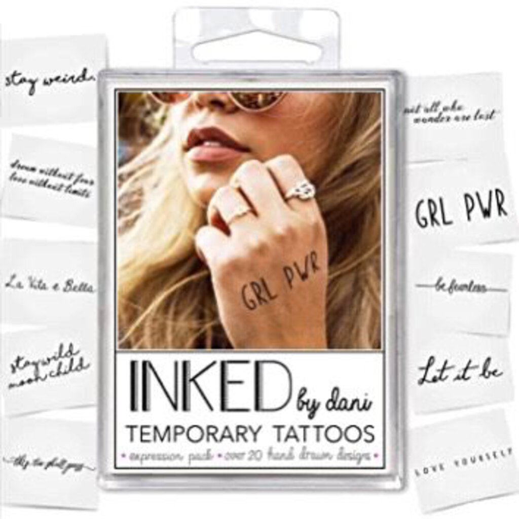 Inked by Dani Expression Temporary Tattoos