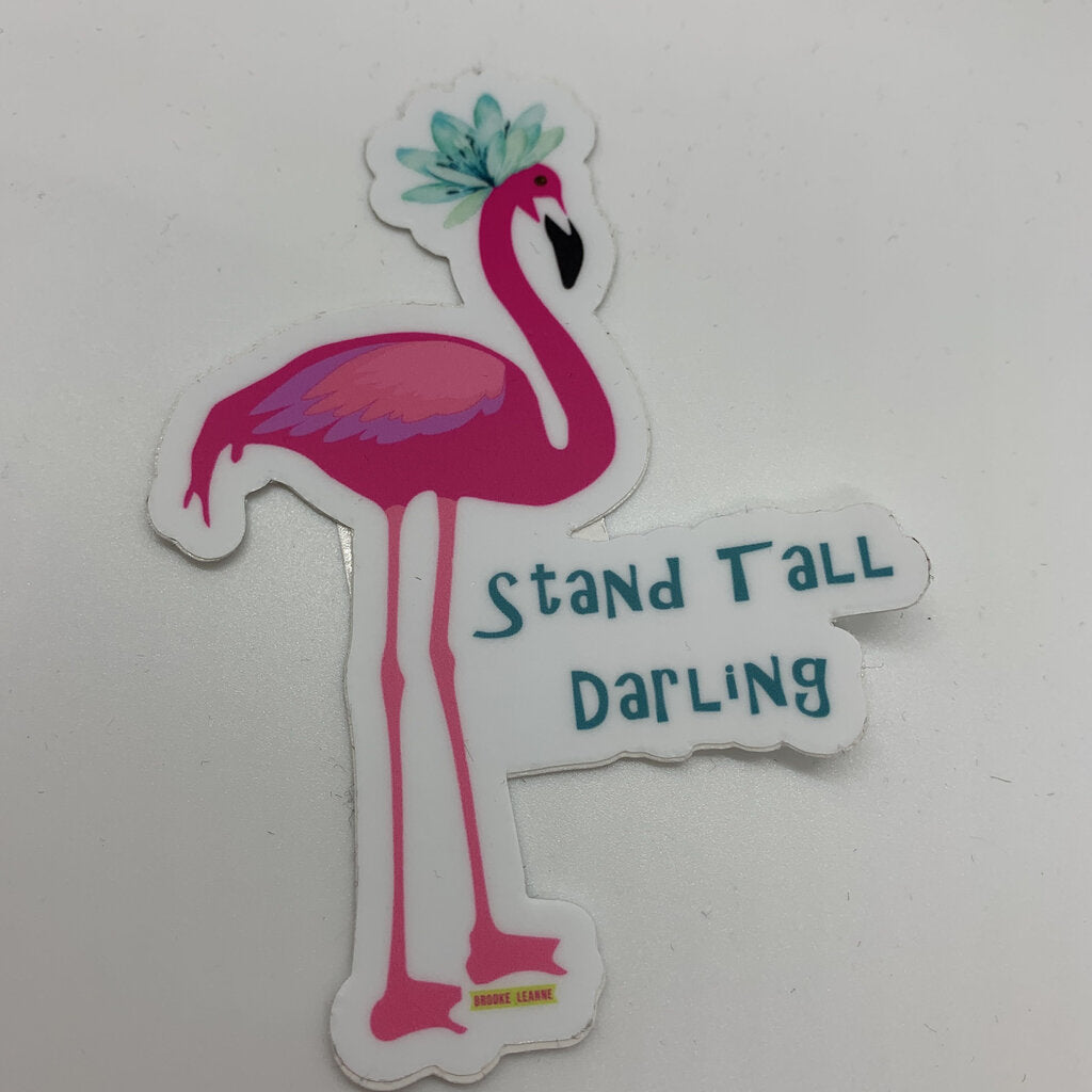 Flamingo-Stand Tall Sticker