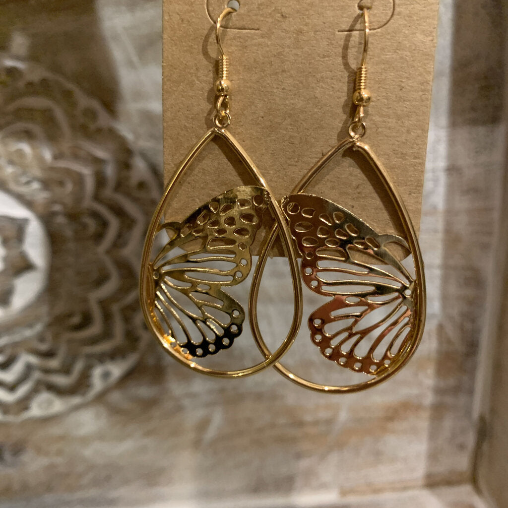 Teardrop Butterfly Earrings