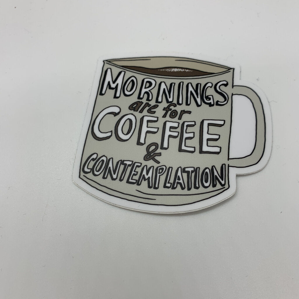 Coffee & Contemplation Sticker
